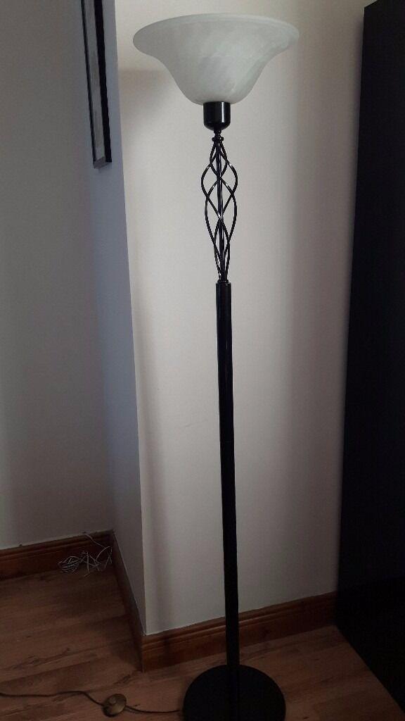 Black Uplighter Floor Lamp / Light