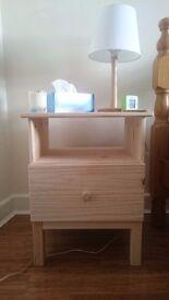 x2 TARVA bedside tables, like new (£25 each)