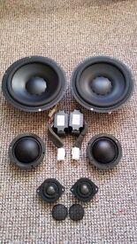 Dynaudio 3 way speakers set from Volvo C70