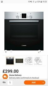 Brand new Bosch electric oven and hob
