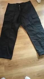 Uneek mens cargo work pants black