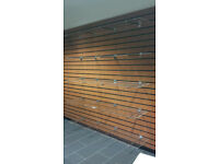 5 Large Slatwall acrylic shelf