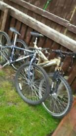 """(X2) 26""""wheel mountain bikes for spares"""