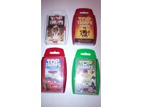 4 Top Trumps packs of cards