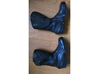 RST motorbike boots, jacket and trousers.