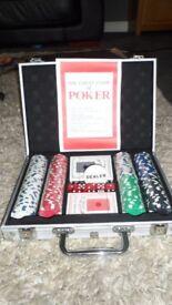 Poker set brand new in aliminuim case