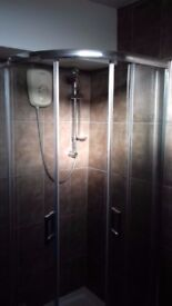 HomeBase Sapphire Shower Enclosure (New in box, missing one door panel)