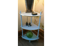 Corner Table - 3 Tier - Powder Blue & Gold