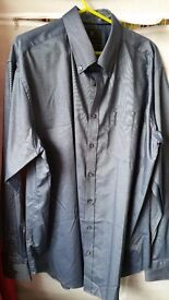 "Marks & Spencer 18.5"" shirt bnwot indigo"