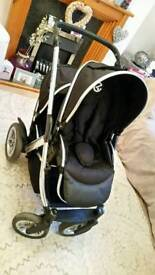 Twin double buggy mothercare