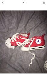 Red or Blue Converse Crib Shoes