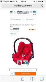 Maxi cosi car seat red newborn to 12 months