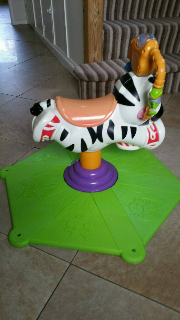 Bouncy Musical Zebra Activity Toy