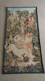 Medieval Tapestry 'Unicorn At The Fountain'. Immaculate Condition.