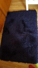 Navy Blue shaggy rug (next)