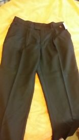 NEW Mens Suit Work Tailored Black Trousers 38 short 10+ available ALEXANDRA WORK WEAR
