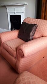 Marks and Spencer Terracota Sofa and Armchair