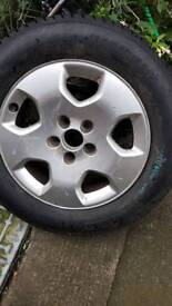 """Audi spare alloy wheel, BRAND NEW TYRE 195/65/15 15"""" inch 5 Stud"""
