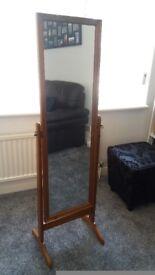 Full length dressing mirror in pine
