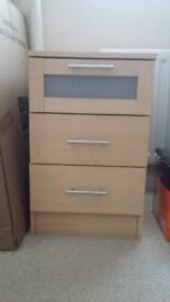 4, bedside drawers and 1 chest of drawers