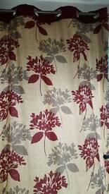 Lovely lined eyelet curtains for sale 90 x 66 in