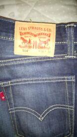 Levi 504 jeans like brand new