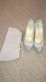 Peter Kaiser Shoes and matching clutch bag