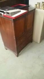 Vintage oak miniature dresser