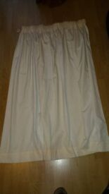 Cream Curtains with tie backs