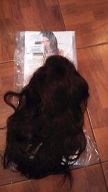 "The 22"" Volume Boost Remy Human Hair - Chocolate 4/6 beauty works half wig DOUBLE VOLUME"