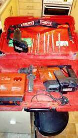 Hilti te 5a sds drill, bits 2 batteries and charger