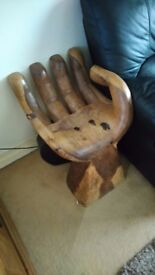 solid wood hand carved chair