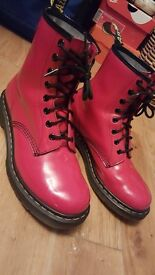 Unisex Red Patent Dr Martens Size 7