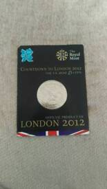 Coin. £5 Countdown to London 2012