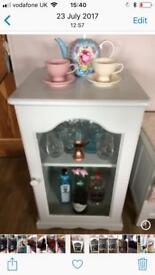 Hand painted storage / display cabinet