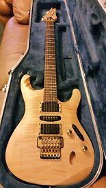 Ibanez Herman Li EGEN8 Platinum Blonde signature guitar. Excellent condition, awesome guitar.