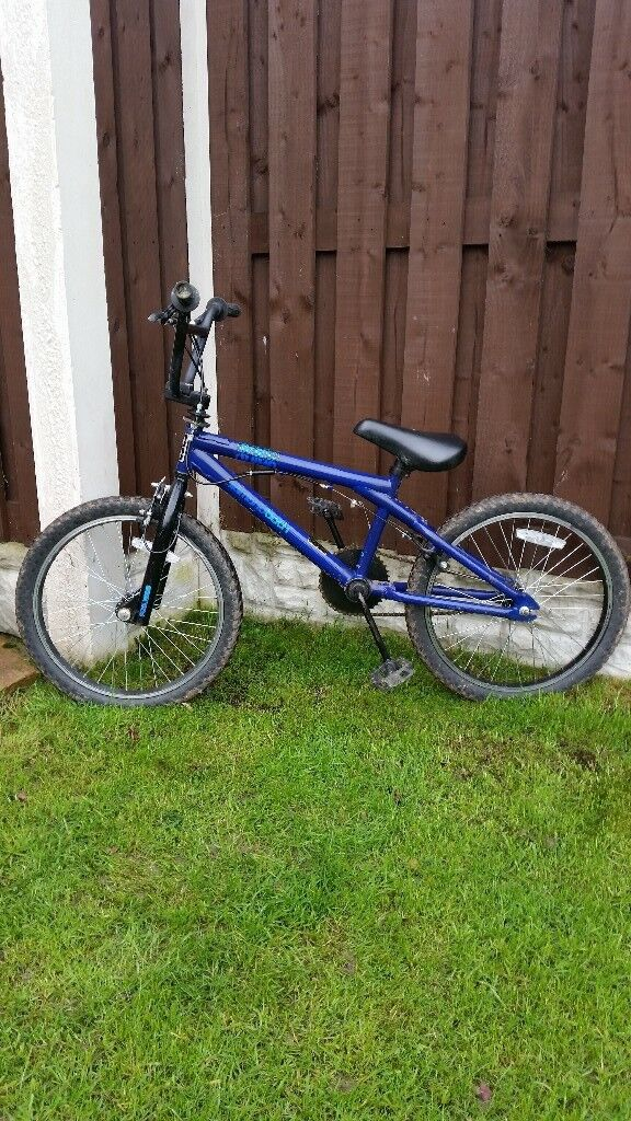 "Boys 20"" bmx bike in dark blue can deliver foe a small charge"