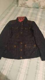 Next Girls Barbour styled jacket sized 15-16yrs