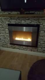 Plasma living flame gas fire