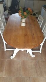 Large oval dining table with 4 chairs PROJECT