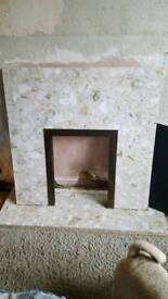 Marble fire back
