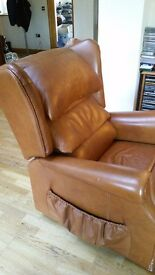 Powered Reclining leather armchair