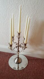 4 xCandelabras with mirror mats