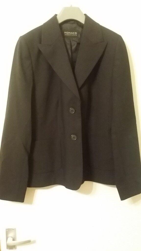 Brand New Ladies 12ls Monaco Formal Black Jacket Blazer