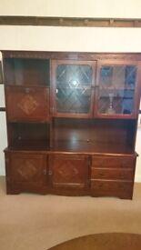 Retro Vintage Oak Dresser/Cabinet - Stanley Wood Reproduction circa 1970s