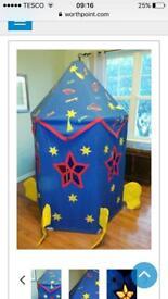 Rare, 'Win Green' canvas rocket tent.