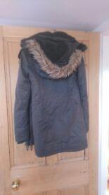 Superdry fleece lined coat XS