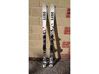 Line Chronic 177cm skis (and Rossignol ski bag)