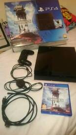 PS4 500GB boxed with Star Wars Battlefront