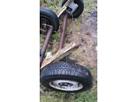 single axle on good condition ready to make on good trailer or ect